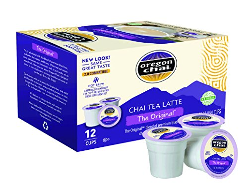 Oregon Chai Oregon Chai Single Serve Cups, 12 Count