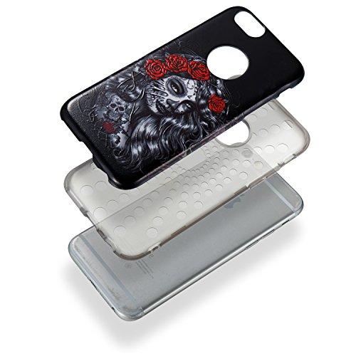 "Hülle iPhone 6 / 6s , LH Rosen Mädchen Combo TPU Weich Muschel Tasche Schutzhülle Silikon Handyhülle Schale Cover Case Gehäuse für Apple iPhone 6 / 6s 4.7"""