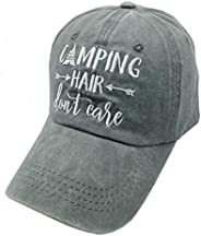 Waldeal Camping Hair Don't Care Vintage Washed Dyed Adjustable Baseball Cap