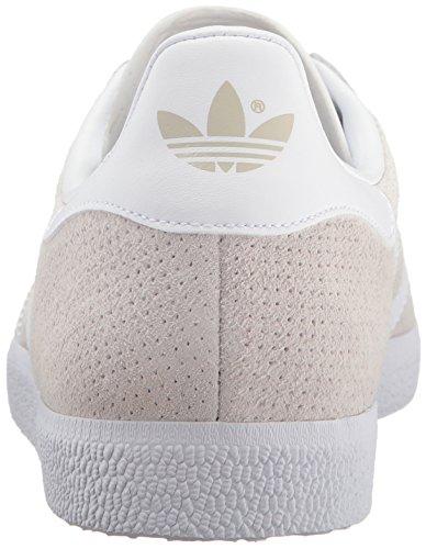 Adidas Originals Women's Gazelle W Sneaker, Clear Brown/White/Gold Metallic, 6 M US