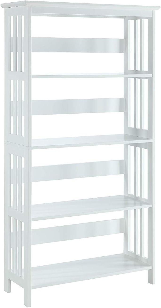 White Convenience Concepts Mission 3-Tier Bookcase