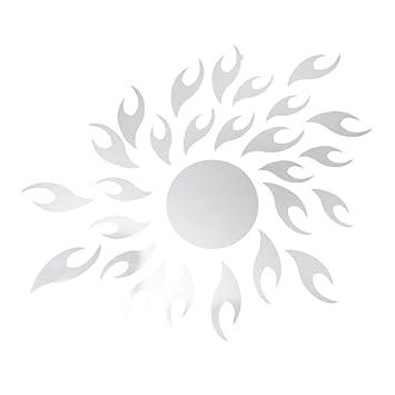 pcs espejos adhesivos de pared pegatinas adornadas de pared en forma de sol