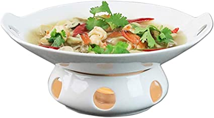 Amazon Com 12 Inch Buffet Casserole Dish Ceramic Chafer With Candle Holder Catering Warmer Set Keep Food Calories For Party Brunches Catering Events Soup Porridge Sports Outdoors