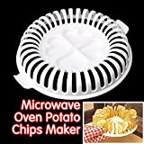 baked vapes - DIY Low Calories Microwave Oven Baked Potato Chips Grill Fat Free Potato Chips Maker Baking & Pastry Tools Kitchen Accessories