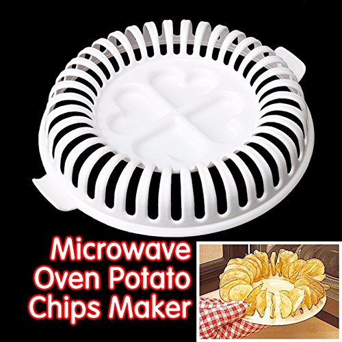 Potato Chip Maker - DIY Low Calories Microwave Oven Baked Potato Chips Grill Fat Free Potato Chips Maker Baking & Pastry Tools Kitchen Accessories - Chip Maker
