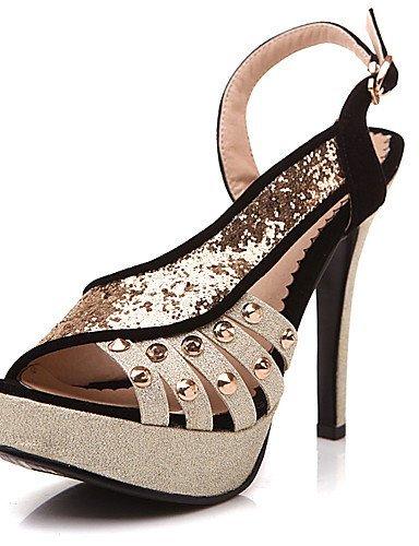 ShangYi Womens Shoes Heel Heels / Peep Toe / Platform Sandals / Heels Party & Evening / Dress / Casual Black / Red/7885-2 Black