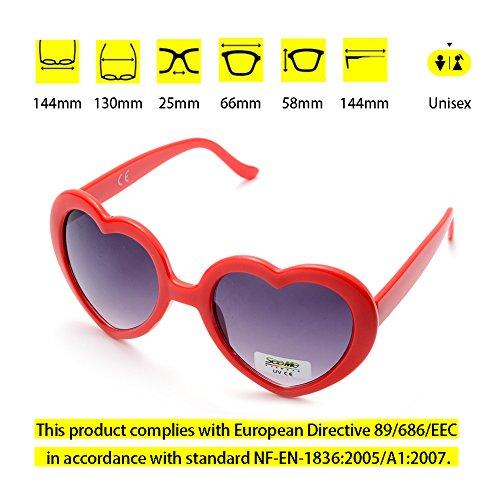 Rouge pack Lunettes reflet de Cœur 20 Femme Enfant ONNEA Anti Soleil Homme wvPZqw1Hd