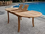 Grade-A Teak Wood Large double extension 94'' Oval Dining Table #WFDT94O