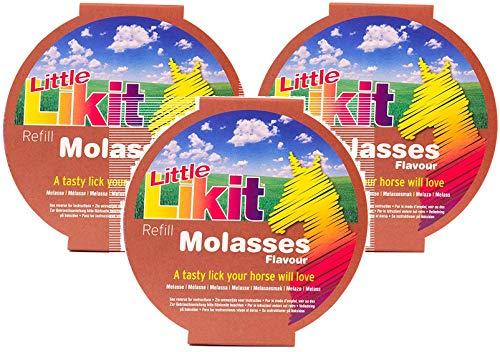 Manna Pro 3 Pack of Little Likit Molasses Treat Refills for Horses