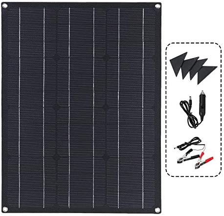Solarmodul Solarpanel 40W Flexible Auto-Boot-Ladegerät Doppel-USB-DC-Controller Solar Panel Module Kit für Wohnmobile, Boote, Home Off Grid System (Color : Black, Size : 40w)