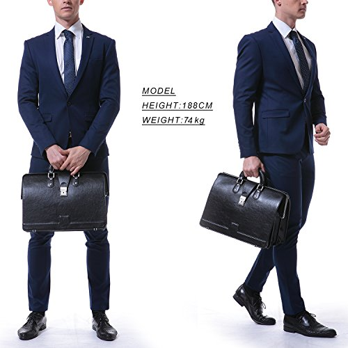 d6b5ebd687d4 Ronts Mens PU Leather Briefcase Lawyer Attache Case with Lock ...