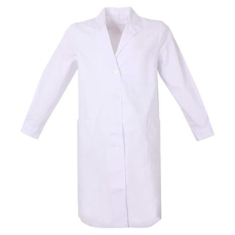 MISEMIYA - Batas de Laboratorio Mujer Uniformes Sanitarios Uniformes Medicas Ropa LaboratoriosBatas Blancas - Ref:8161: Amazon.es: Ropa y accesorios