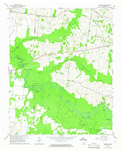 YellowMaps Turnpike TN topo map, 1:24000 Scale, 7.5 X 7.5 Minute, Historical, 1964, Updated 1965, 27.5 x 22.1 in - Tyvek