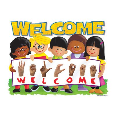 Chart Sign Language Welcome Trend Poster [Set of -