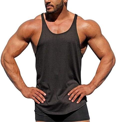 WYNZYX - Camiseta deportiva de algodón para hombre, de secado rápido, sin mangas: Amazon.es: Deportes y aire libre