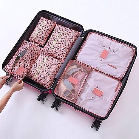 fb6bf54d9a30 Amazon.com : Saasiiyo 7pcs/Set Wine Travel Storage Bag Set Luggage ...