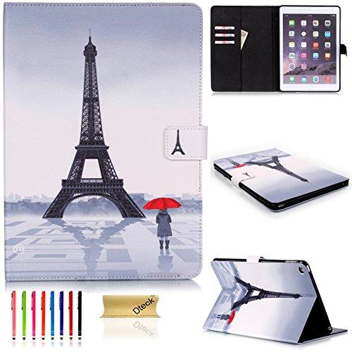 iPad Mini 4 Case,Dteck Cute Cartoon PU Leather Flip Stand Smart Case Cover with [Auto Wake/Sleep Function][Card&Money Slots] Wallet Case for Apple iPad Mini 4 (Model: A1538/A1550), Eiffel Tower (Mini Case Ipad Tower Eiffel 2)