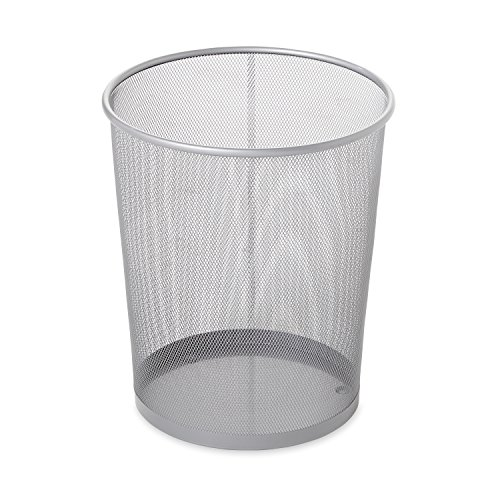 Rubbermaid Commercial Concept Collection Trash Can, 5 Gallon, Silver, FGWMB20SLV