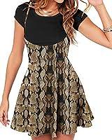 YOINS Women's Suspender Skirts Basic High Waist Versatile Flared Skater Skirt Overall Dress