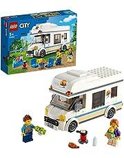 LEGO 60283 City Voertuigen Vakantiecamper, Motorhome Speelset, Zomervakantie Verjaardagscadeau voor Jongens en Meisjes met Minifiguren