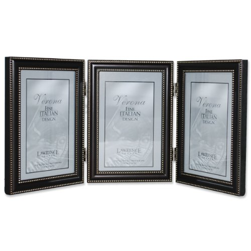 Lawrence x 6 Hinged Triple Vertical Picture Frame in Oil Rubbed Bronze with Beading