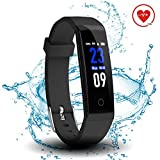 DoSmarter Fitness Tracker, Color Screen Activity Health Tracker with Heart Rate Monitor, Waterproof Smart Pedometer Watch Band with Step Calories Counter for Kids Woman Man