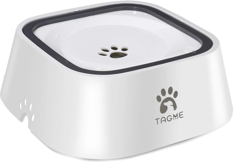 FDA Grade /& BPA Free Material Anti-Splash Pet Bowls Vehicle Carried Travel Water Bowls Healthy /& Dishwasher Safe TagME Dog Dripless Water Bowl