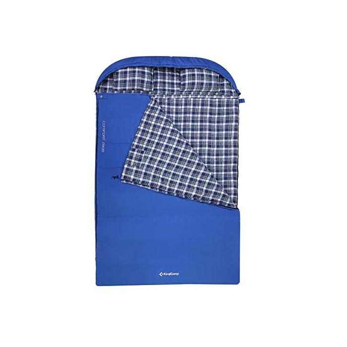 KingCamp Cotton Flannel 3 Season Double Sleeping Bag