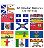 3×5 Canada Canadian 13 Territories and Provinces Wholesale Flag Set 3'x5′ Review