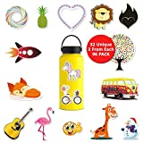 Webstar Stickers for Hydro Flask Water Bottles Vsco - 96 Pack 32 Different Cute Waterproof Girls Laptop Decals
