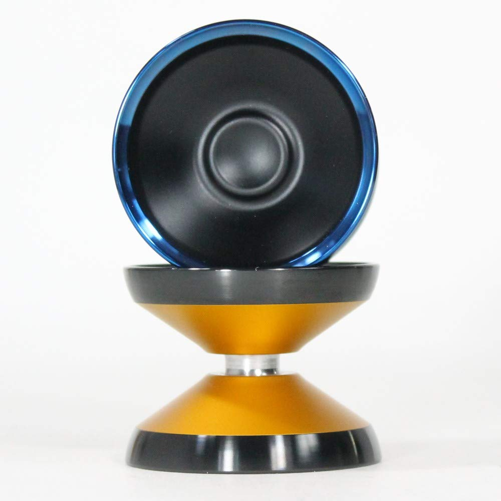 yoyofriends Hummingbird Yo Yo - 7068 Aluminium with Stainless Steel Rims (Orange with Black Ring)