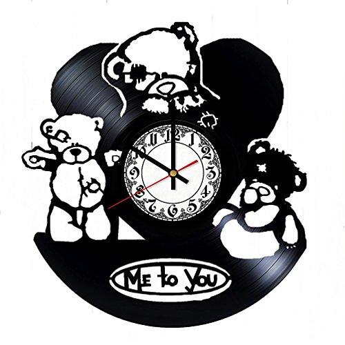 Teddy Bear Art Design HANDMADE Vinyl Record Wall Clock - Home Decor - Wall Decor - Wall Art - Gift Ideas