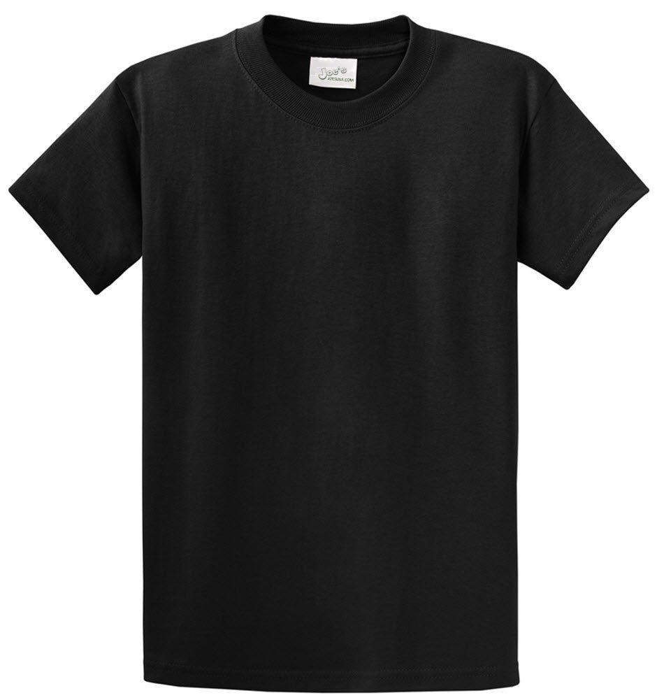 Joe's USA tm - Heavyweight 6.1-Ounce, 100% Cotton T-Shirts, L - Black by Joe's USA