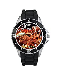 Aries Zodiac Unisex design watch with silicone band