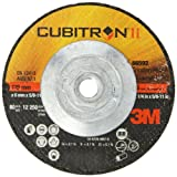 3M Cubitron II Depressed Center Grinding Wheel T27 Quick Change, Precision Shaped Ceramic Grain, 12250 RPM, 5'' Diameter x 1/4'' Thick, 5/8''-11 Arbor, 36+ Grade (Pack of 1)