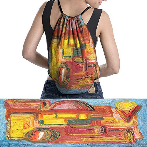 Sports Backpackcolorful modern painting W13.7