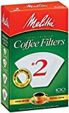 Melitta Cone Coffee Filters, White, No. 2, 100 count