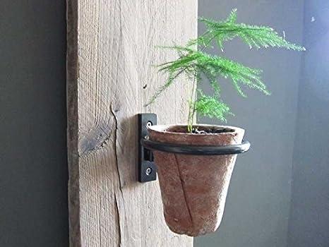 Heavy Rim 4 in, 5.5 in 2 pcs Set Easy to Install Pennington 2 Pcs Set D/écor Wall Mounted Pot Ring Planter