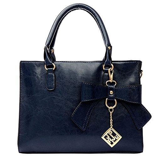 Bleu Main Mode Noeud 23 Shopping Cuir OL 11 Sac Porté Taille Fourre Femme Sac Bandouliere A 31 CM Mauea Tout Epaule PU Cabas qCREwSBwx