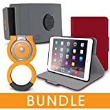 roocase iPad Mini Orb Bundle, Folio Case Cover Stand for Apple iPad Mini 3 2 1 with Orb Loop and Strap - Rotating and Detachable iPad Mini 3 2 1 Tablet Shell Case, Red [Patented Orb System]