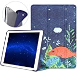 VORI Case for iPad 9.7 2018/2017, Lightweight Slim Soft Case Flexible TPU Back Smart Stand Cover [Auto Wake/Sleep] Compatible with Apple iPad 9.7 Inch 5th / 6th Generation Tablet, Sleeping Fish
