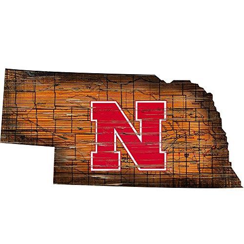 Fan Creations Sign University of Nebraska Cutout (State), -