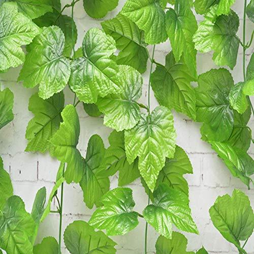 DreamColor Lot de 2 fausses feuilles de raisin artificielles /à suspendre 2,4 m D/écoration de maison ou de jardin