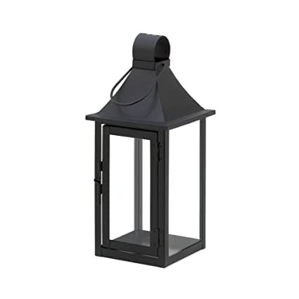 Patio Candle Lanterns, Outdoor Carriage House Large Black Metal Candle  Lantern