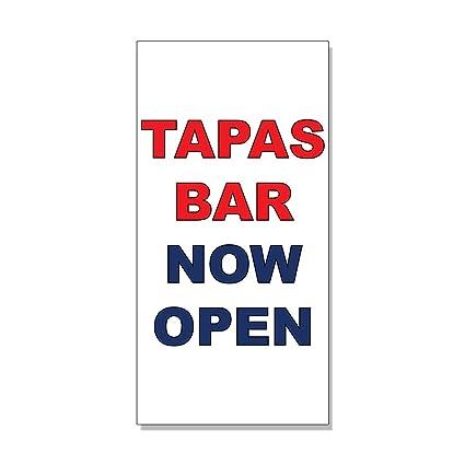 Amazon Com Tapas Bar Now Open Red Blue Bar Restaurant Decal
