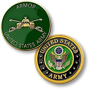 U.S. Army Armor Challenge Coin from Armed Forces Depot