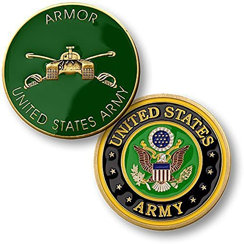 (U.S. Army Armor Challenge Coin)