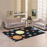 your-fantasia Area Rug Custom Planets Of The Solar System Modern Carpet Home Decor