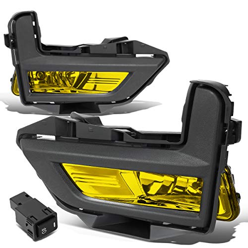 Pair Amber Lens Front Driving Fog Light/Lamps w/Bezel+Switch for 17-18 Rogue