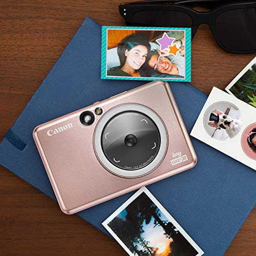 Canon IVY CLIQ+2 Instant Camera Printer, Smartphone Printer, Rose Gold (4519C001)